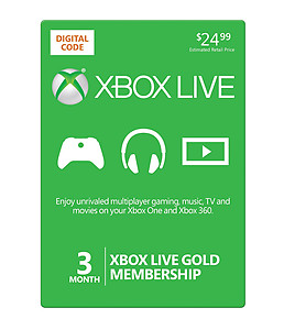 XB360 Live 3 Month Gold Card