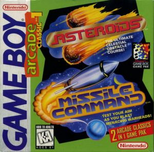 Arcade Classic: Asteroids and Missile Command (Gameboy)