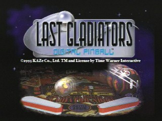 Last Gladiators Digital Pinball (Saturn)