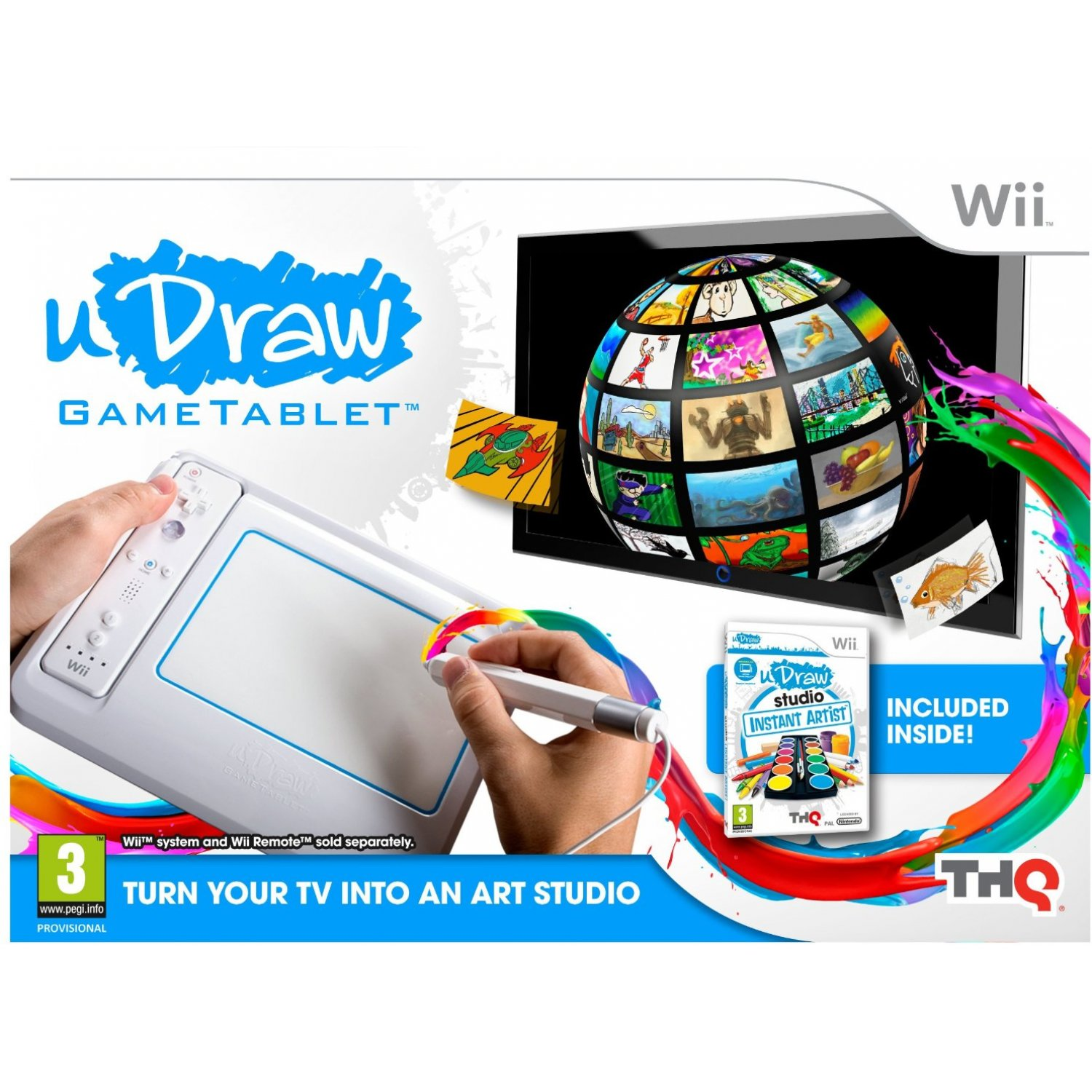 uDraw Game tablet with uDraw Studio: Instant Artist (Wii)